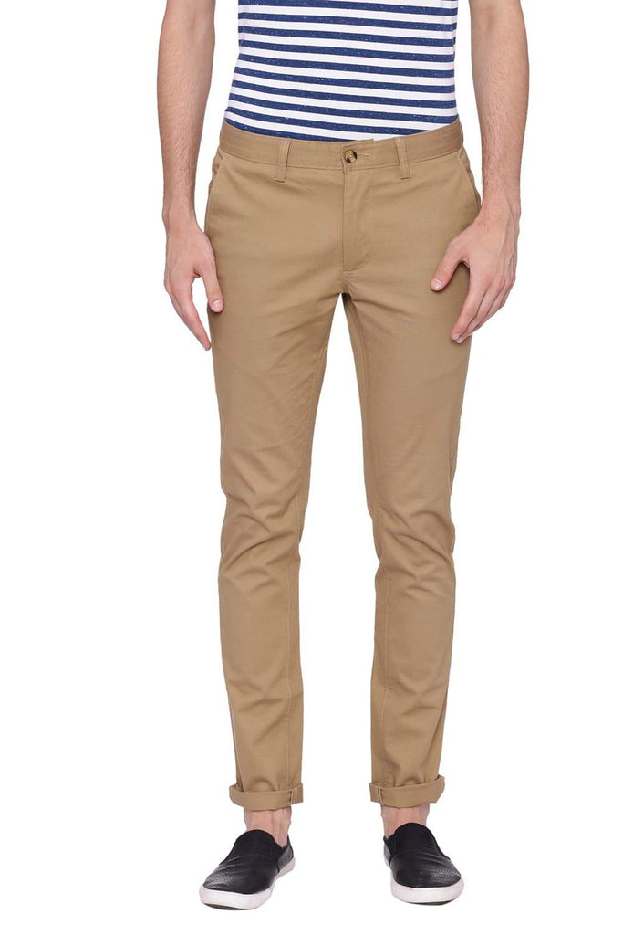 BASICS TAPERED FIT FENNEL SEED STRETCH TROUSER-18BTR39020