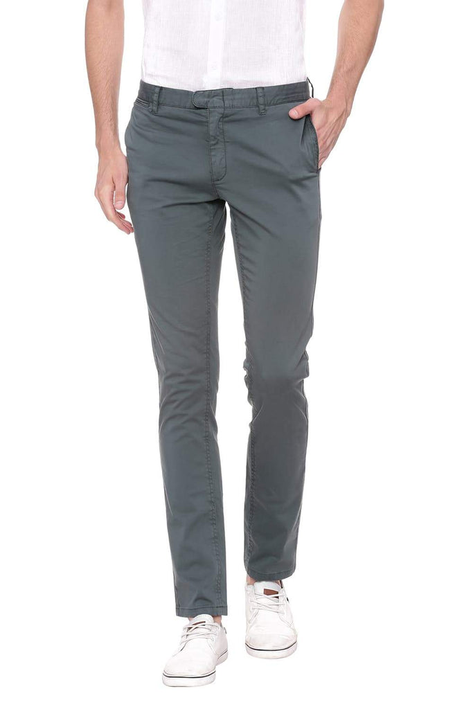BASICS TAPERED FIT GREEN GABLES STRETCH TROUSER-18BTR39064 - BasicsLife