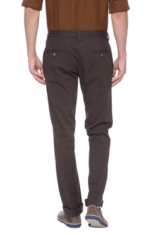 Basics Tapered Fit Gunmetal Grey Stretch Trouser Front
