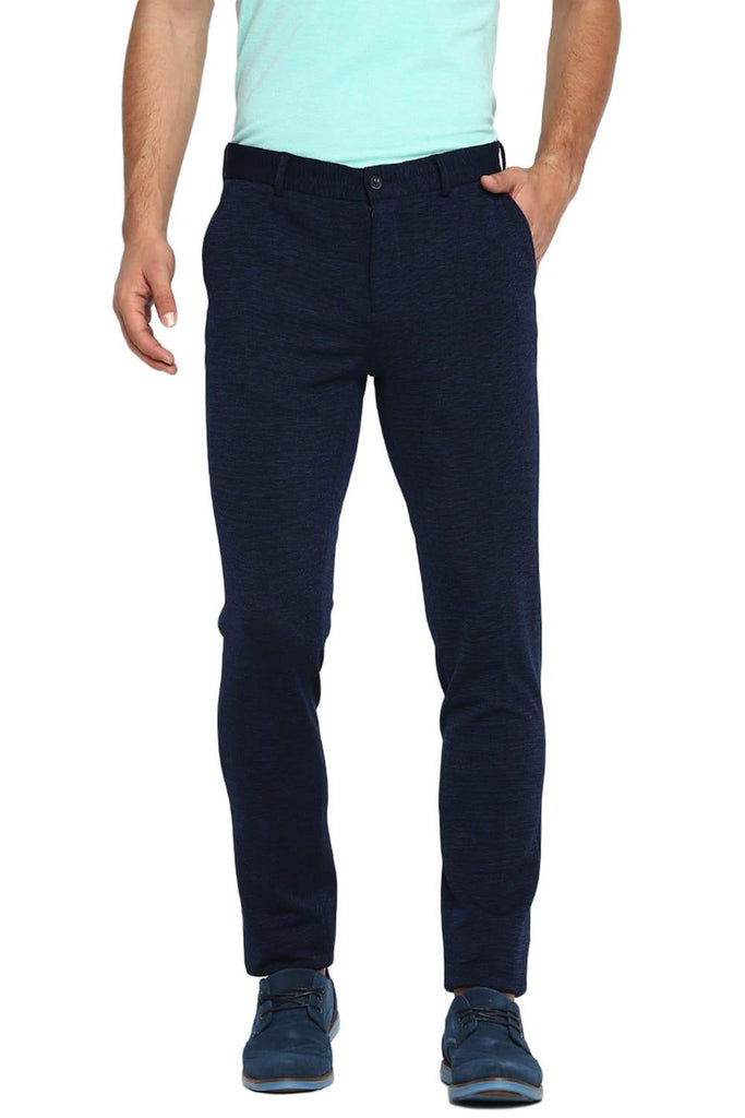 BASICS TAPERED FIT INSIGNIA BLUE KNITTED TROUSER-19BTR41257 - BasicsLife