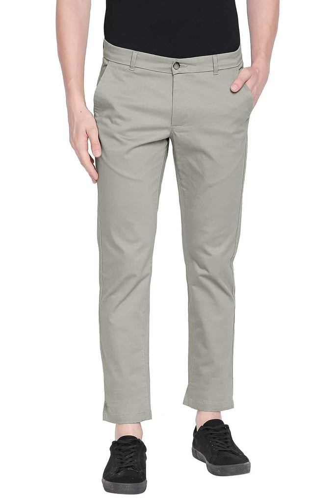 BASICS TAPERED FIT LAUREL OAK STRETCH TROUSER-20BTR43568 (4491876139089)