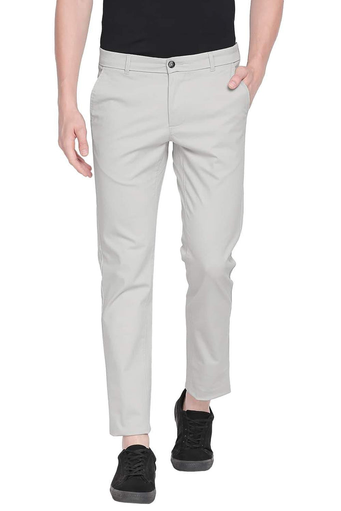 BASICS TAPERED FIT PELICAN STRETCH TROUSER-20BTR43266 (4491871977553)