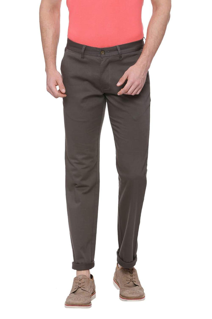 BASICS TAPERED FIT ROSIN GREEN STRETCH TROUSER-18BTR38267 (4491106484305)