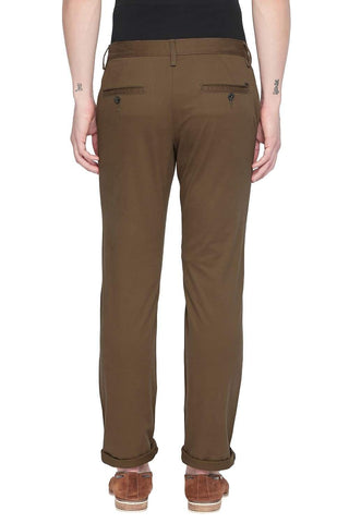 BASICS TAPERED FIT SEPIA BROWN STRETCH TROUSER-19BTR42842 (4491732779089)