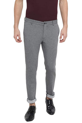 Basics Tapered Fit Stretch Limo Knit Trouser Front