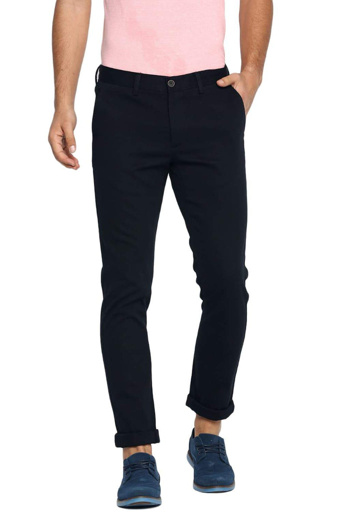 BASICS TAPERED FIT STRETCH LIMO STRETCH TROUSER-19BTR40072