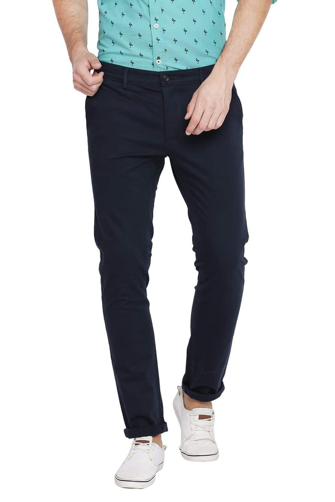 BASICS TAPERED FIT TOTAL ECLIPSE STRETCH TROUSER-18BTR39107