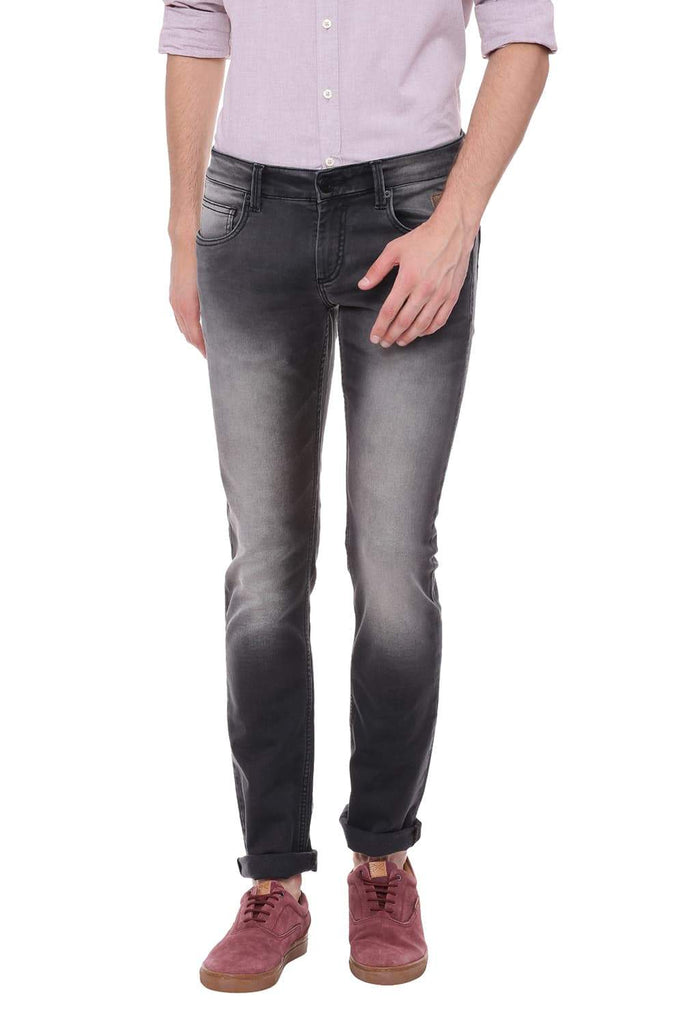 Basics Torque Fit Anthracite Black Stretch Jean Front