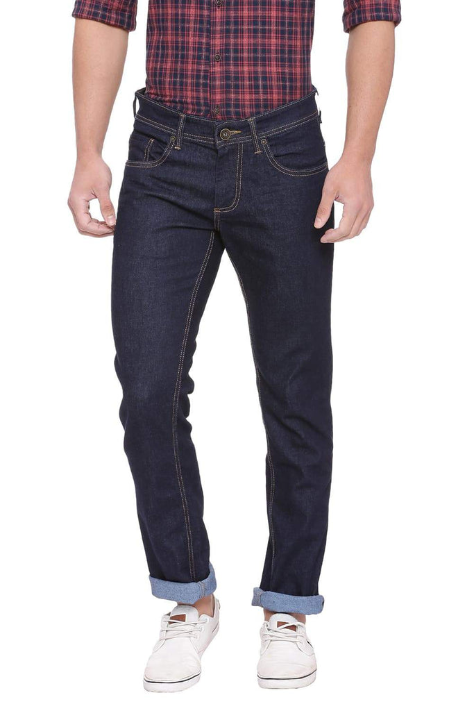 Basics Torque Fit Blue Night Stretch Jean Front
