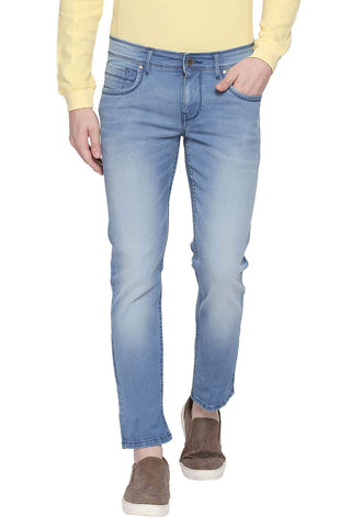 BASICS TORQUE FIT CHINA BLUE STRETCH JEANS-20BJN43899 - BasicsLife