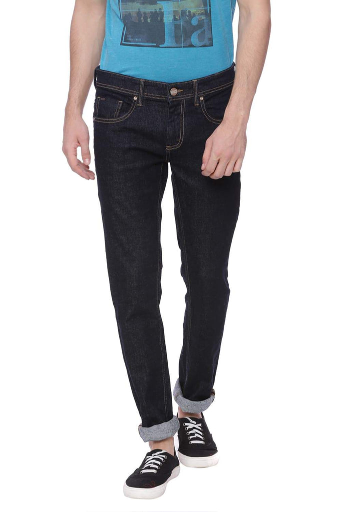 Basics Torque Fit Deep Black Stretch Jean Front