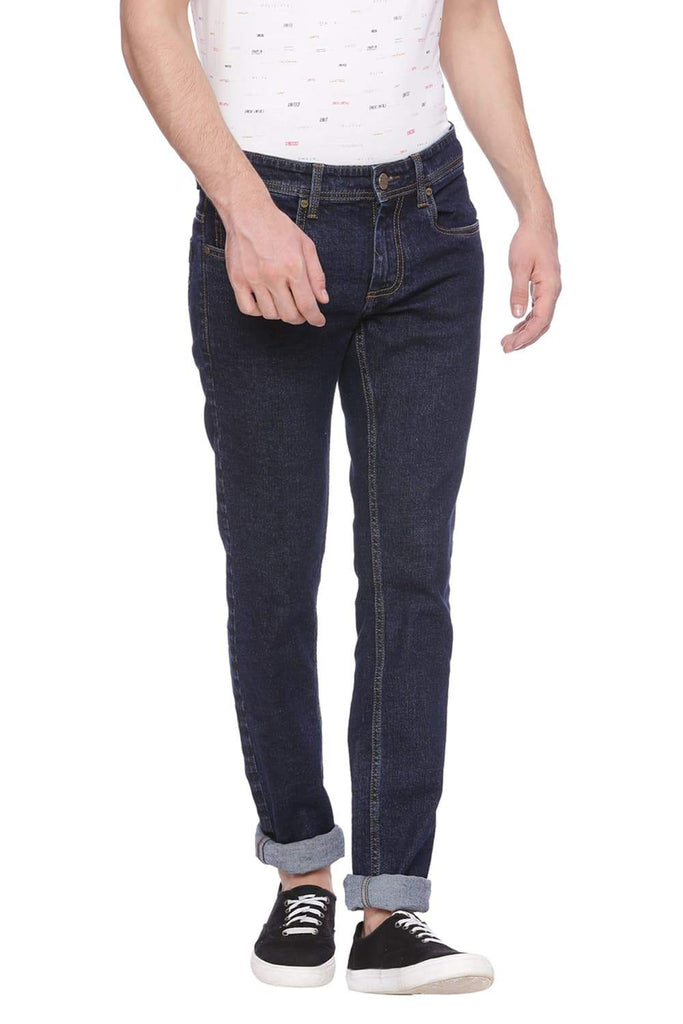 Basics Torque Fit Peacoat Navy Stretch Jean Front