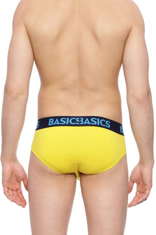 BASICS VIBRANT YELLOW SOLID STRETCHABLE FASHION BRIEF-17BBF36940 (4491121131601)