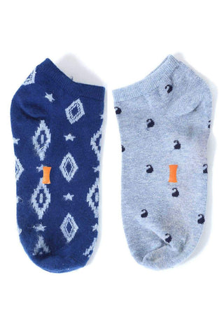 BASICS VINTAGE BLUE SOCKS - 2 PIECE PACK-15BSK33660 - BasicsLife