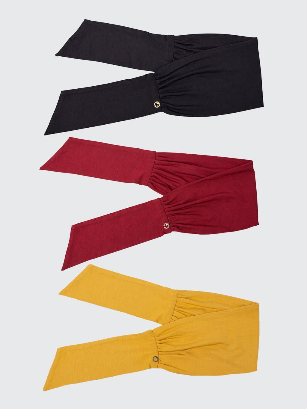 Beau Tie | 3 Pack | Black + Scarlet + Lucky Yellow