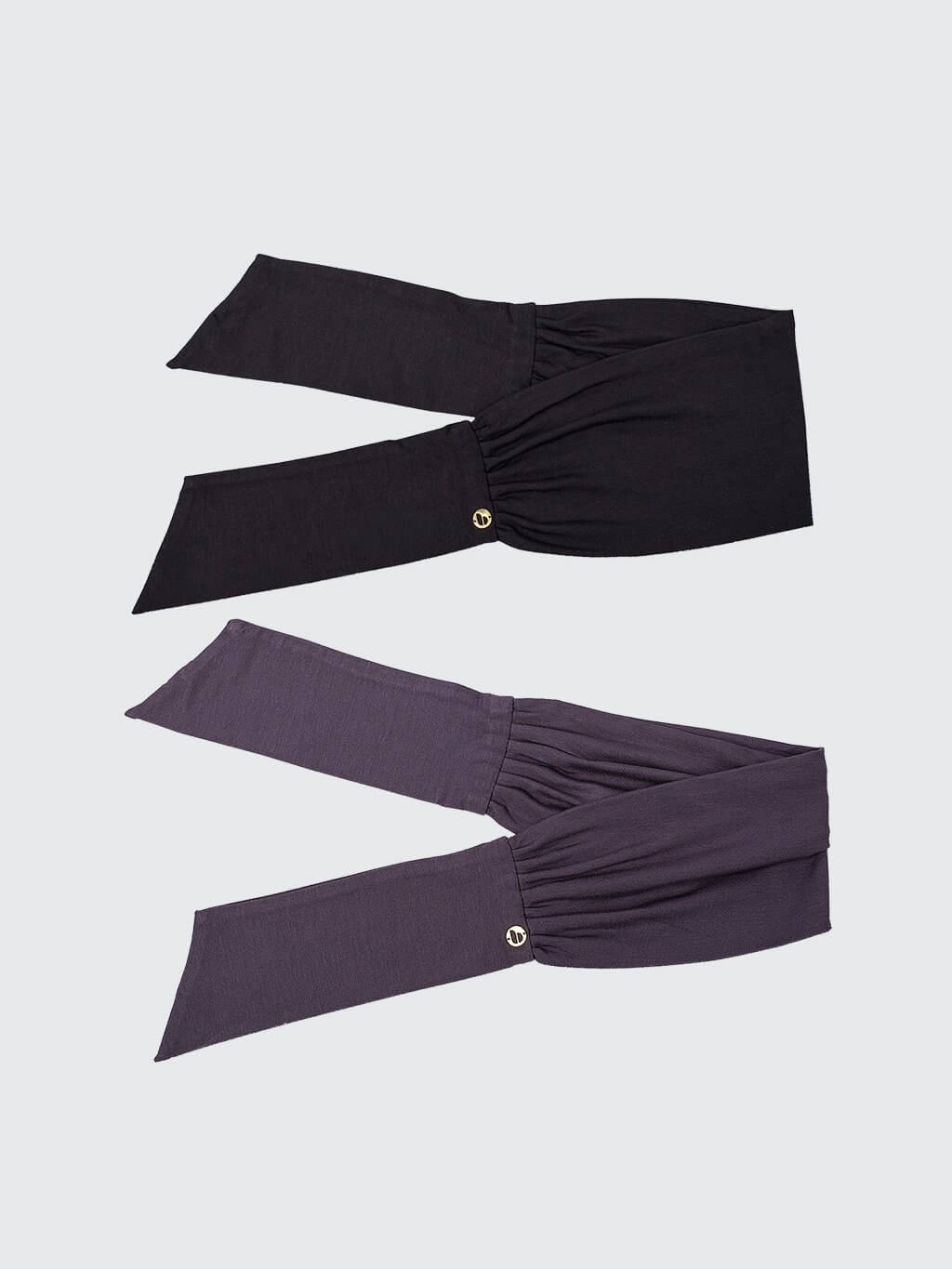 Beau Tie | 2 Pack | Black + Charcoal