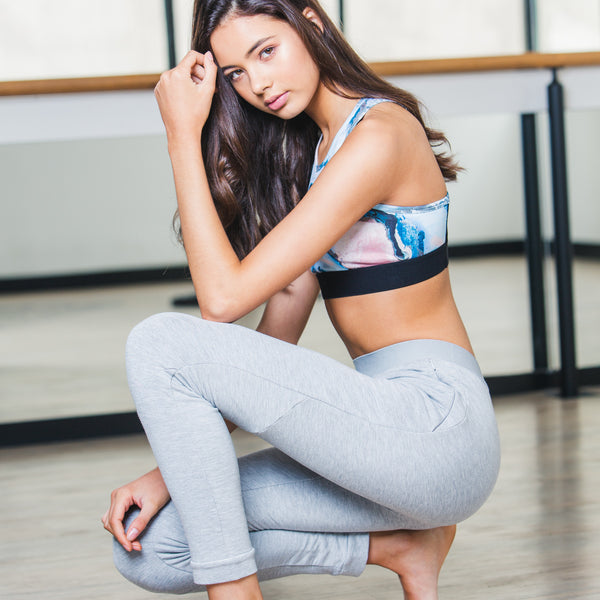 Seamed Track Pants in Grey