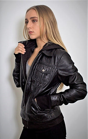 ComiCon Sniper Costume Prop - Annalise Womens Leather Jacket