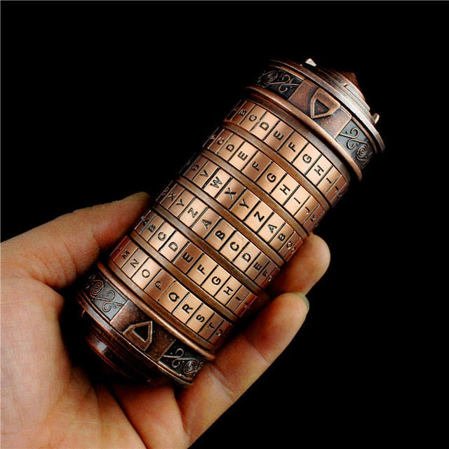 Leonardo da Vinci code toys Figure Metal Cryptex locks wedding gifts Valentine's Day gift Letter Password escape chamber props