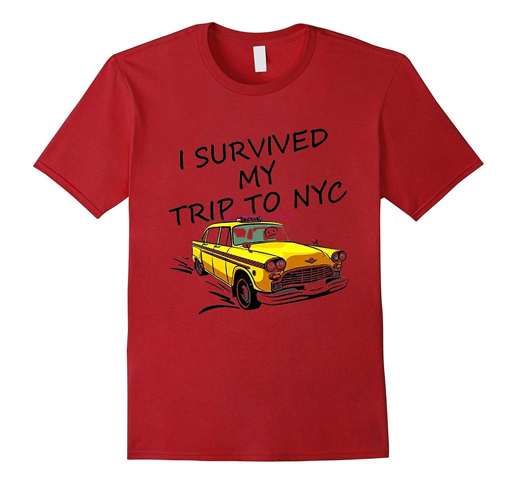 "Red Marvel Spiderman Tom Holland ""I SURVIYED MY TRIP TO NYC"" T-shirt"