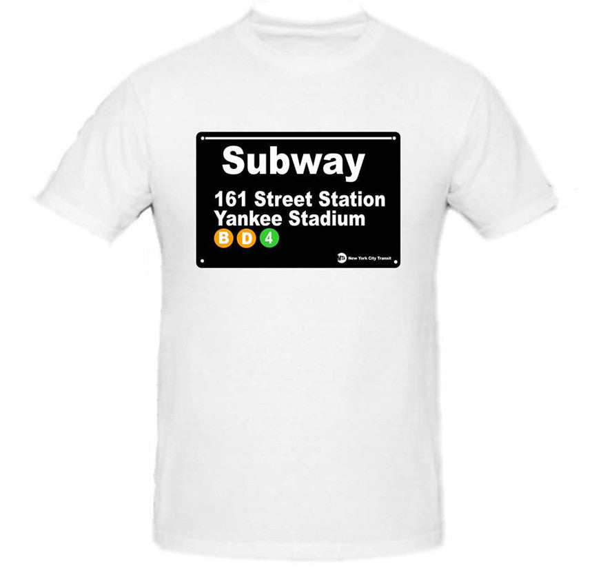 Subway Station Sign T-Shirt Yankee Stadium Station