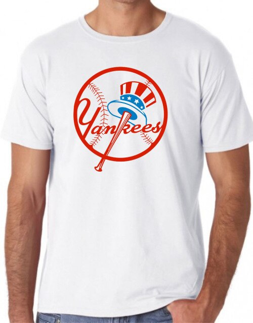 NY YANKEES BASEBALL T SHIRT TOP TEE UNISEX FRONT logo cool hipster classic Comfortable t shirt,Casual Short Sleeve TEE
