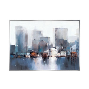 Modern abstract painting New York City Architecture scenery poster canvas painting home decor canvas pictures for living room