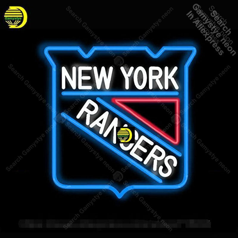 New York Rangers Hockey Neon Sign