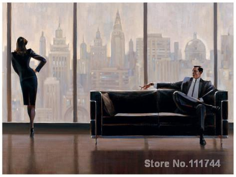 Office art Pensive New York by Brent Lynch Canvas oil Painting High quality Hand painted