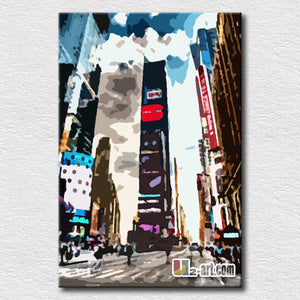 Flourishing city New York canvas pictures for living room decorative oil painting for bedroom wall decoration