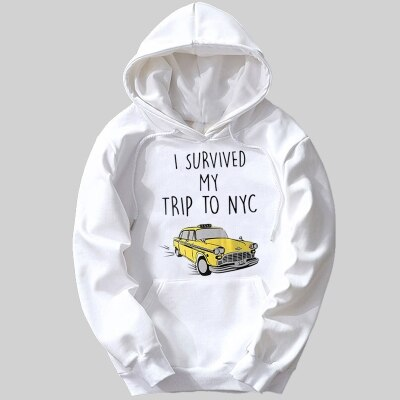 Spider Man:Homecoming findx  i survived my trip to NYC i survived a new york city cab ride girls woman female fleece hoodies