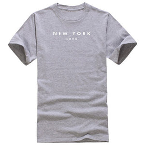 New York Soho Letter Women t shirt Cotton Casual Funny Tshirt For Lady Top Tee Hipster Plus Size S-3XL
