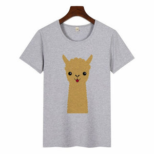 Llama In A Taxi In Times Square Women Harajuku T-Shirt