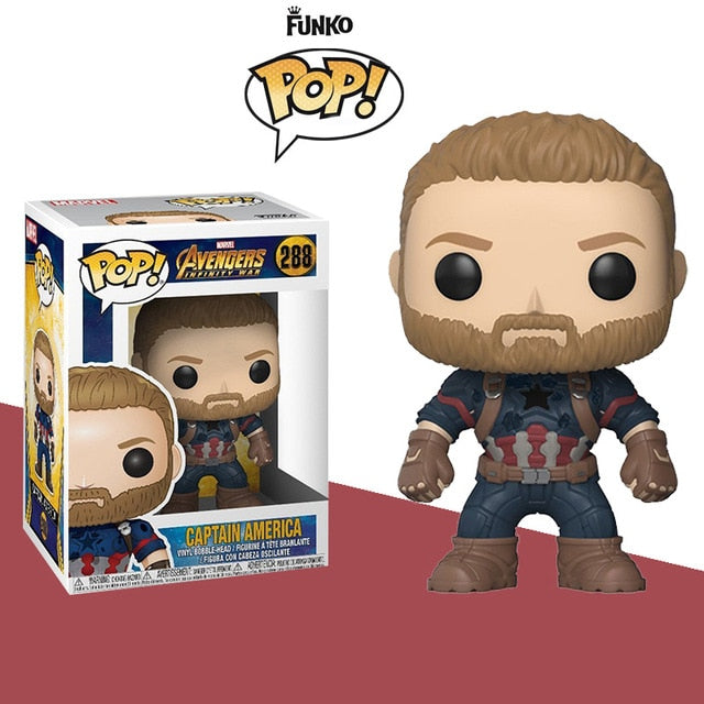 FUNKO POP Marvel Urbanvinyl Doll Avengers 3 Thanos Iron man Spider man Hulk Doctor Strange Thor Captain America Gift for kids