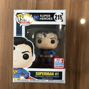 2017 NYCC Exclusive Funko pop Official DC Super Heroes Superman (First Appearance) #1 Vinyl Action Figure Collectible Model Toy
