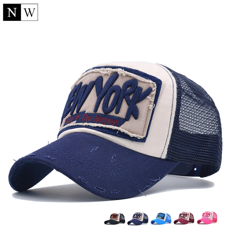 5 Panel NY Baseball Cap with Mesh