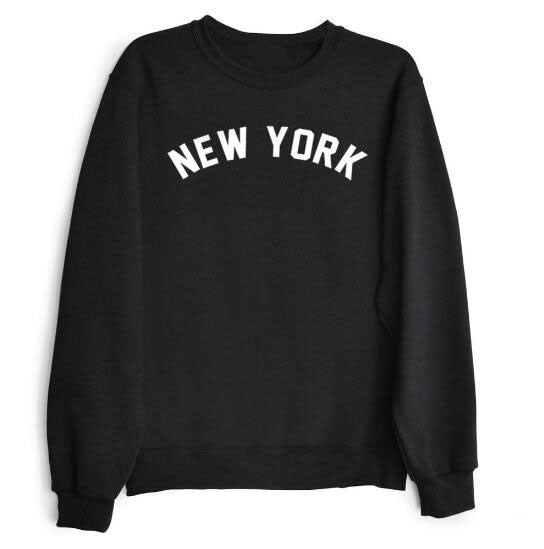 New York Sweatshirt Crew-neck Women Style