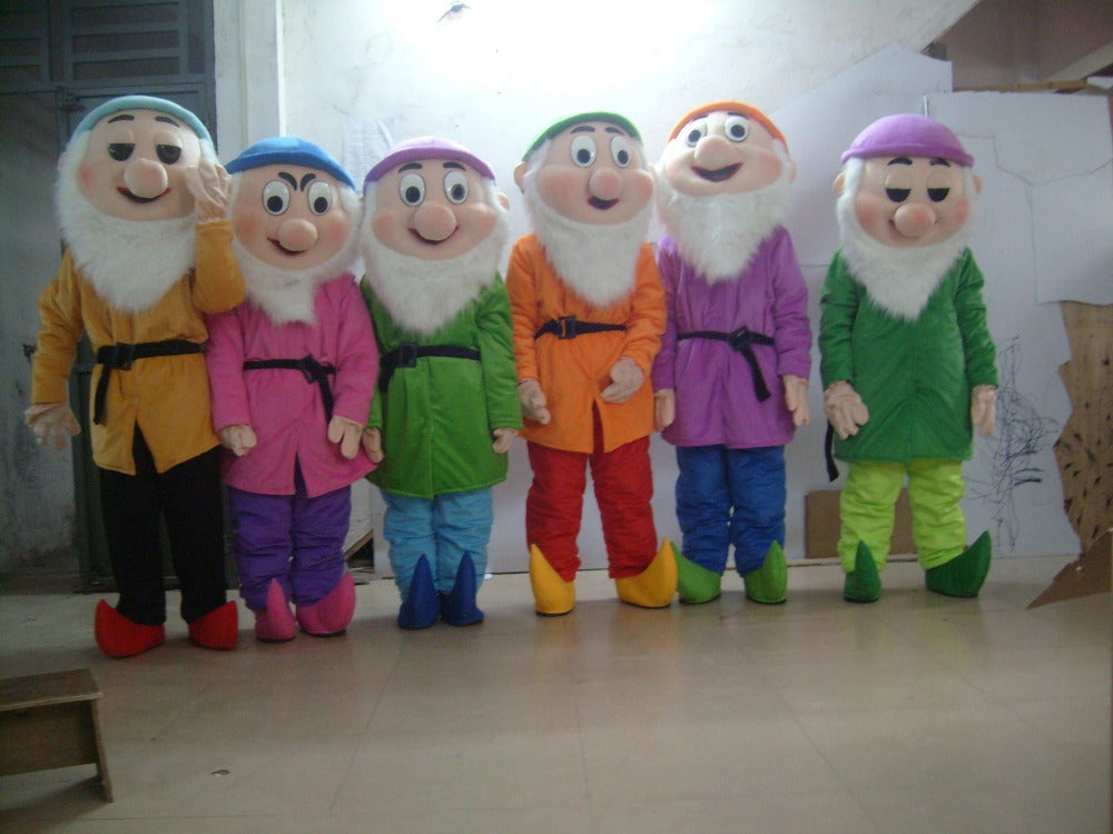 seven drawf  mascot costumes adult size Halloween party fancy dress for sale custom made 7pcs