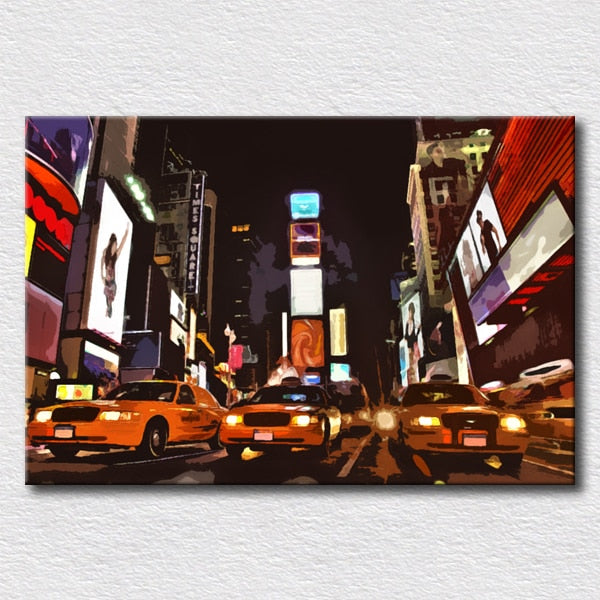 Painting canvas New York city oil painting for living room reproduction oil painting for home decoration canvas art