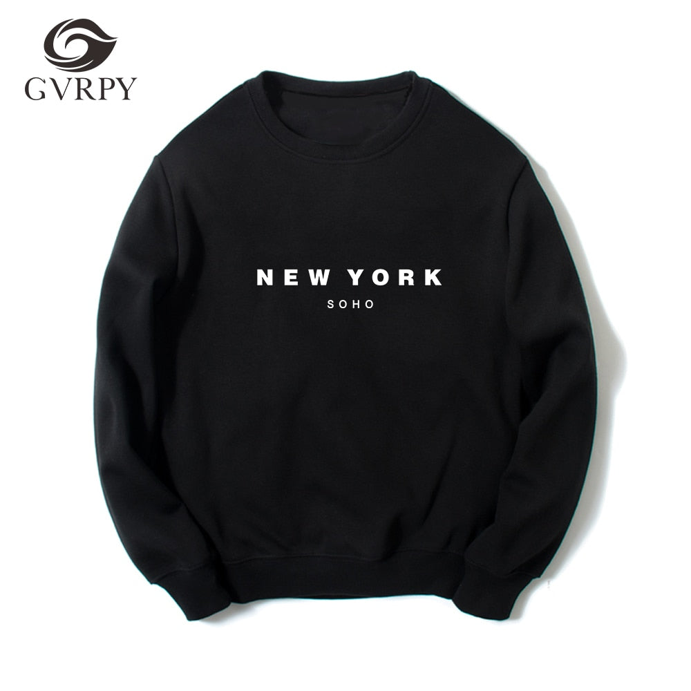 Soho New York Sweatshirt Hipster Hoodie for Women