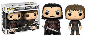 Exclusive Funko pop Game of Thrones - Jon Snow and Bran Stark 2 pack Vinyl Figures Collectible Model Toy with Original Box