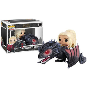 Funko POP Song Of Ice And Fire Game Of Thrones DAENERYS & DROGON Action Doll Collectible Model toys for children birthday Gift