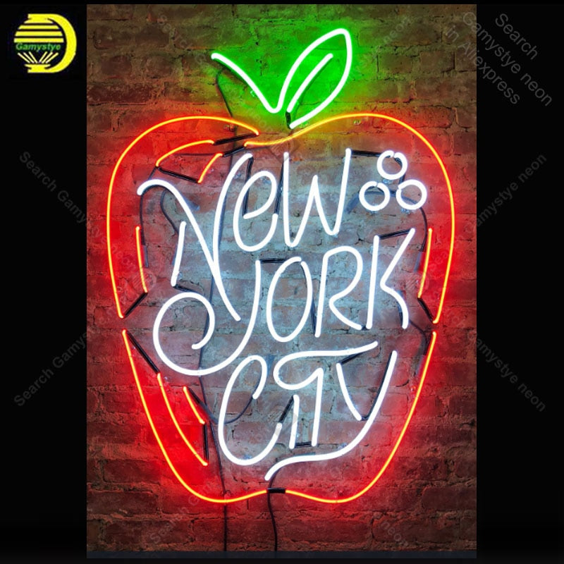 New York City Apple Shape Neon Sign Home Decor