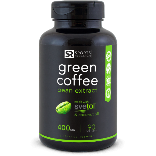 Svetol Green Coffee Bean Extract - (90 Liquid Softgels) - Sweet Sweat Canada