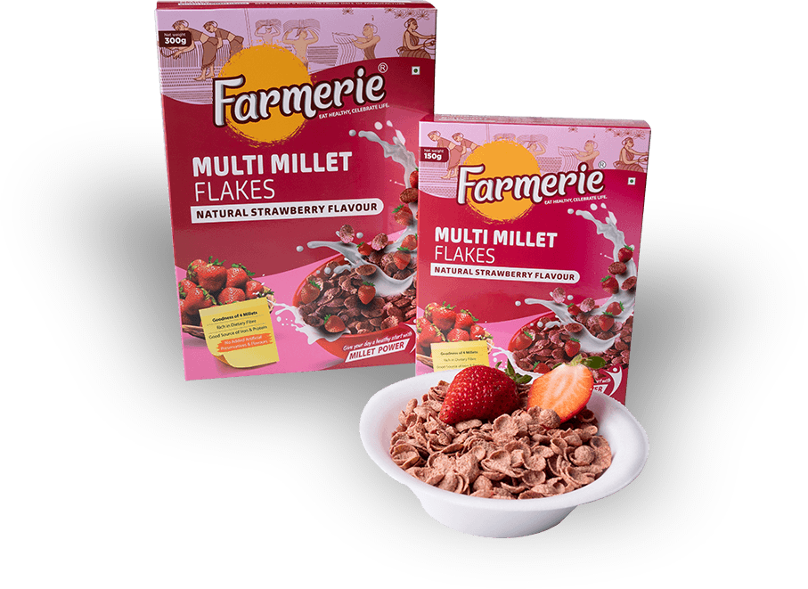 Multi Millet Flakes - Natural Strawberry Flavour