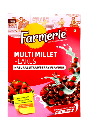 Multi Millet Flakes (Natural Strawberry Flavour)