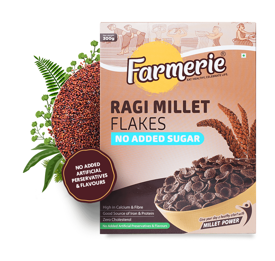 Ragi Millet Flakes - No Added Sugar