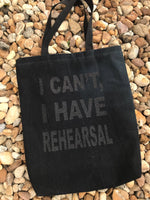 """Rehearsal"" Tote - Glitter Black on Black"