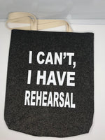 """Rehearsal"" Tote - Cardinal - SceneryBags"