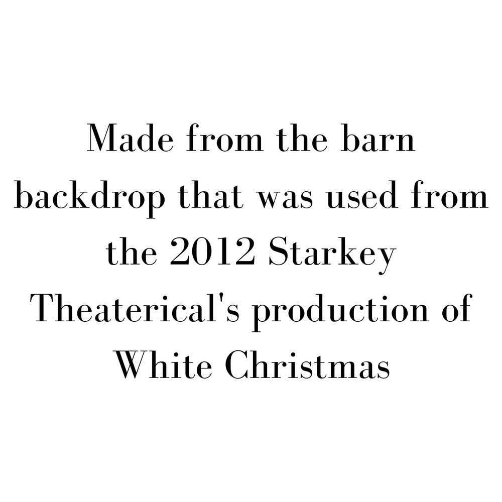 White Christmas - Barn - SceneryBags